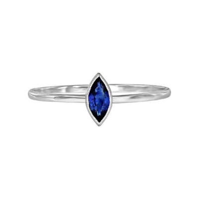 0.22ct. sapphire ring set in solitaire ring smallest Image
