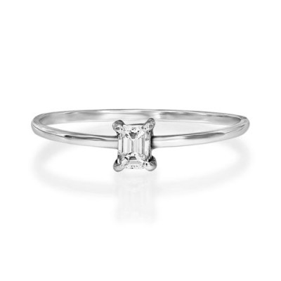 0.17ct. diamond ring set with diamond in solitaire ring smallest Image
