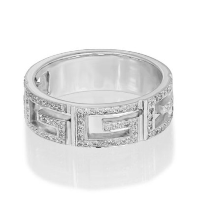 0.38ct. diamond ring set with diamond in wide band ring smallest Image