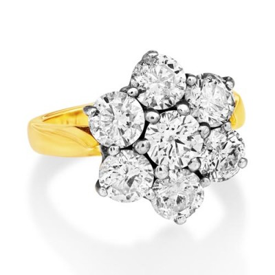 3.7ct. diamond ring set with diamond in cluster ring smallest Image