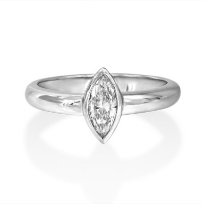 0.5ct. diamond ring set with diamond in solitaire ring smallest Image