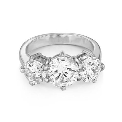 4.18ct. diamond ring set with diamond in three stone ring smallest Image