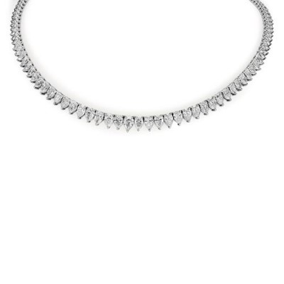 25.38ct. diamond necklace set with diamond in tennis necklace smallest Image