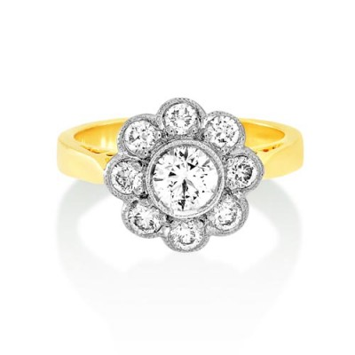 1.05ct. diamond ring set with diamond in cluster ring smallest Image