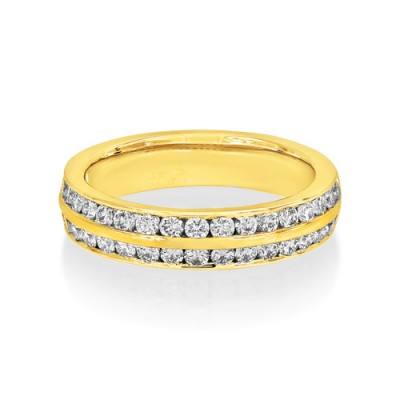 0.79ct. diamond ring set with diamond in wide band ring smallest Image