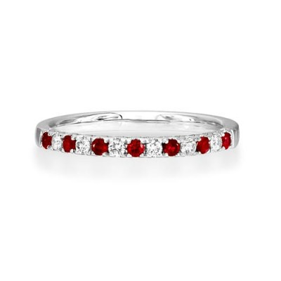 ruby ring 0.19ct. set with diamond in eternity ring smallest Image
