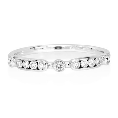 0.21ct. diamond ring set with diamond in eternity ring smallest Image