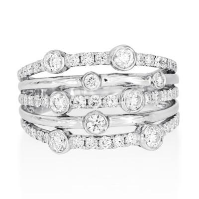 0.94ct. diamond ring set with diamond in rain dance ring smallest Image