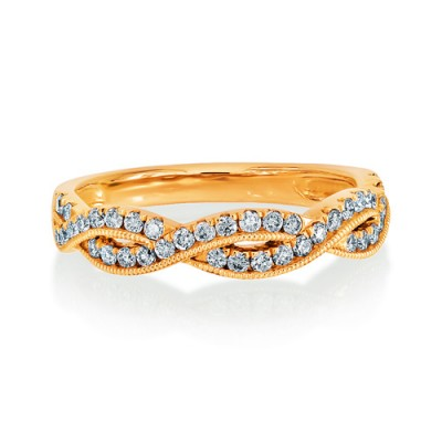 0.35ct. diamond ring set with diamond in fancy ring smallest Image