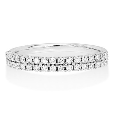 0.4ct. diamond ring set with diamond in wide band ring smallest Image