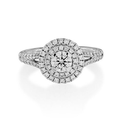 1.08ct. diamond ring set with diamond in cluster ring smallest Image