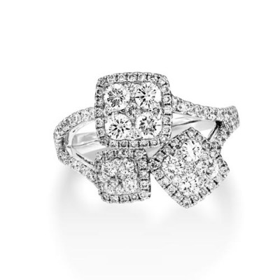 1.41ct. diamond ring set with diamond in cluster ring smallest Image