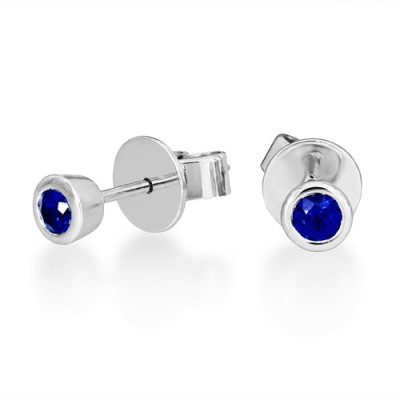 0.35ct. sapphire earrings set in solitaire earrings smallest Image