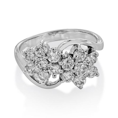 1.13ct. diamond ring set with diamond in crossover ring smallest Image