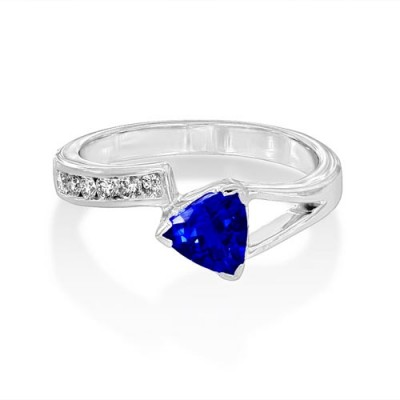 tanzanite ring 0.86ct. set with diamond in fancy ring smallest Image