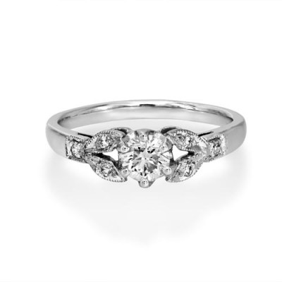 0.48ct. diamond ring set with diamond in vintage ring smallest Image