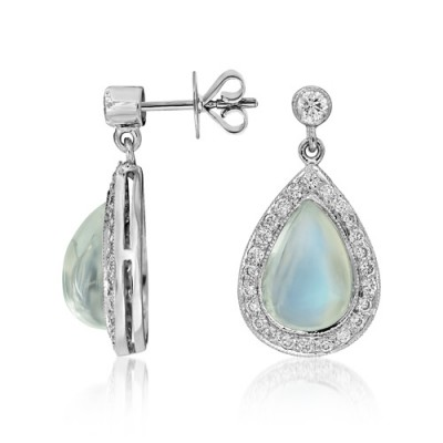 rainbow moonstone earrings 5.94ct. set with diamond in drop earrings smallest Image
