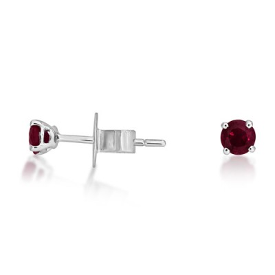 0.32ct. ruby earrings set in solitaire earrings smallest Image