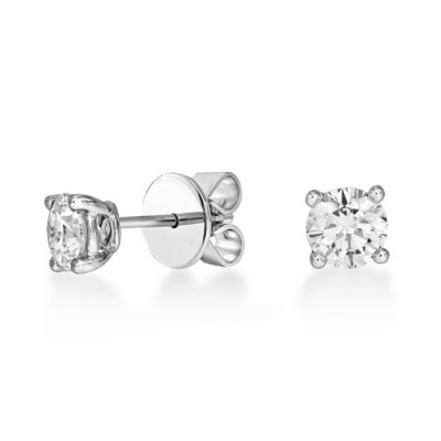 1.01ct. diamond earrings set with diamond in solitaire earrings smallest Image