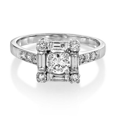 0.8ct. diamond ring set with diamond in vintage ring smallest Image