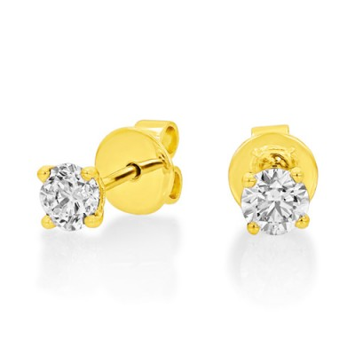 0.71ct. diamond earrings set with diamond in solitaire earrings smallest Image