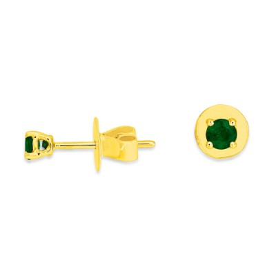 0.24ct. emerald earrings set in solitaire earrings smallest Image