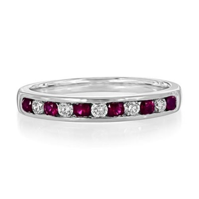 ruby ring 0.28ct. set with diamond in eternity ring smallest Image