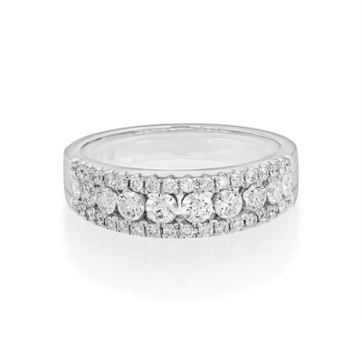 0.86ct. diamond ring set with diamond in wide band ring smallest Image