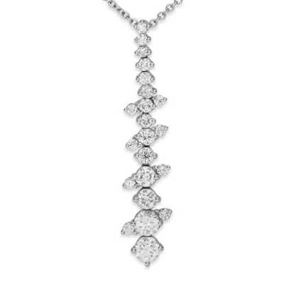 0.92ct. diamond pendant set with diamond in tennis pendant smallest Image