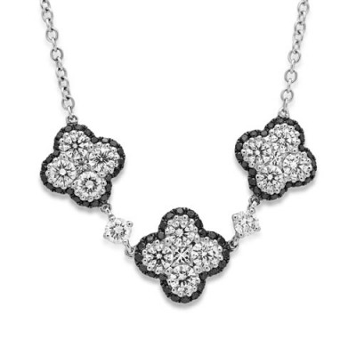 1.93ct. diamond necklace set with diamond in cluster necklace smallest Image