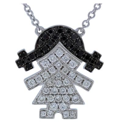 0.39ct. diamond pendant set with diamond in cluster pendant smallest Image