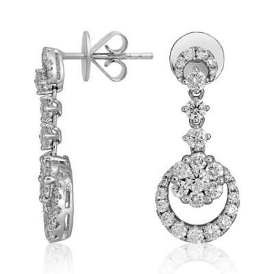 1.38ct. diamond earrings set with diamond in drop earrings smallest Image