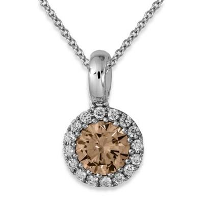0.13ct. diamond pendant set with diamond in cluster pendant smallest Image