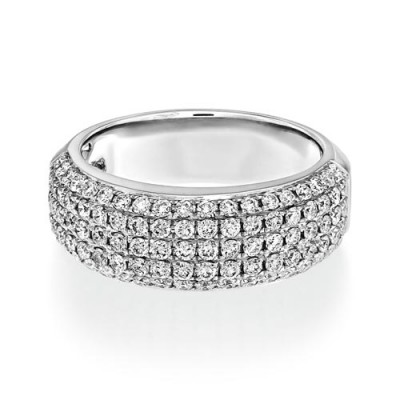1ct. diamond ring set with diamond in wide band ring smallest Image
