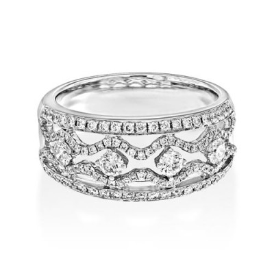 0.75ct. diamond ring set with diamond in wide band ring smallest Image