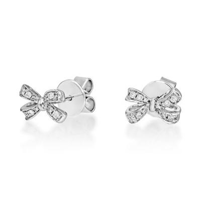 0.12ct. diamond earrings set with diamond in fancy earrings smallest Image