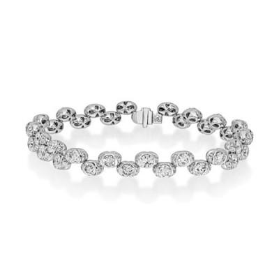 9.29ct. diamond bracelet set with diamond in tennis bracelet smallest Image