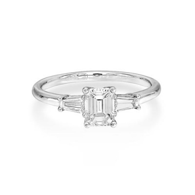 0.94ct. diamond ring set with diamond in three stone ring smallest Image