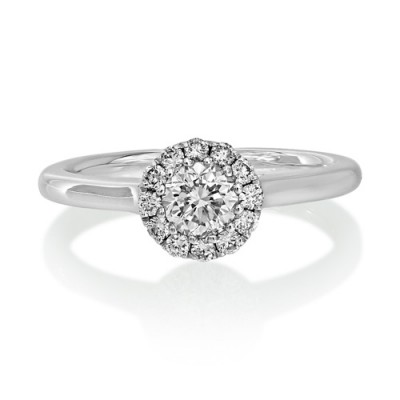 0.17ct. diamond ring set with diamond in cluster ring smallest Image