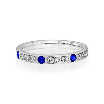 sapphire ring 0.16ct. set with diamond in eternity ring smallest Image