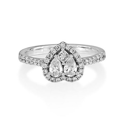 0.76ct. diamond ring set with diamond in cluster ring smallest Image