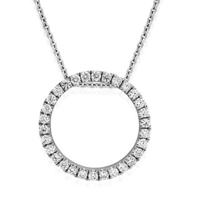 0.25ct. diamond pendant set with diamond in circle pendant smallest Image