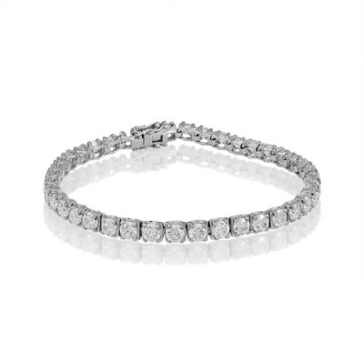 9.58ct. diamond bracelet set with diamond in tennis bracelet smallest Image
