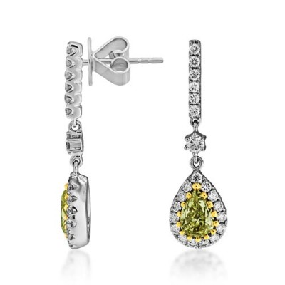 1.71ct. diamond earrings set with diamond in drop earrings smallest Image