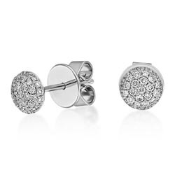 18ct. White Gold Diamond Earrings