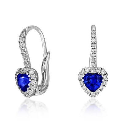 18Ct. Gold Sapphire Earrings