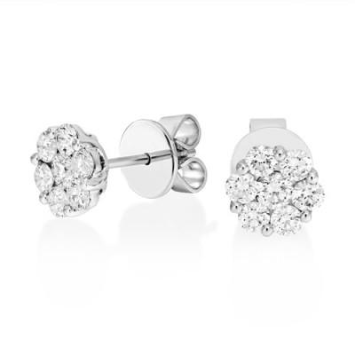 18Ct. White Gold Diamond Earrings