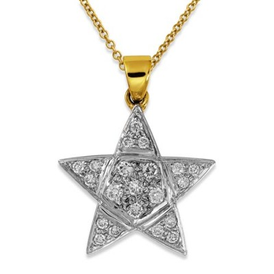 Nayum Diamond Pendant in 9Ct. Yellow Gold