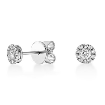 Nayum Diamond Earrings in 18Ct. White Gold