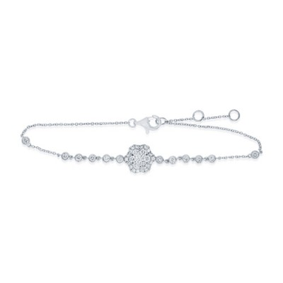 Nayum Diamond Bracelet in 18Ct. White Gold